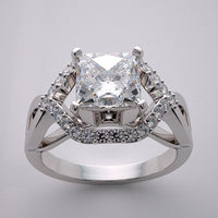 ARTISTIC ENGAGEMENT RING SETTING ASSHER GEOMETRIC DESIGN