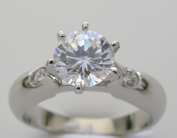 ATTRACTIVE TULIP DIAMOND ENGAGEMENT RING SETTING