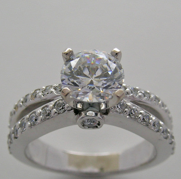 Diamond Ring Setting or Remount shown for a round 6.5mm Center Diamond