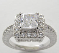 HALO ACCENT PRINCESS CUT 5.50 MM DIAMOND ENGAGEMENT RING SETTTING