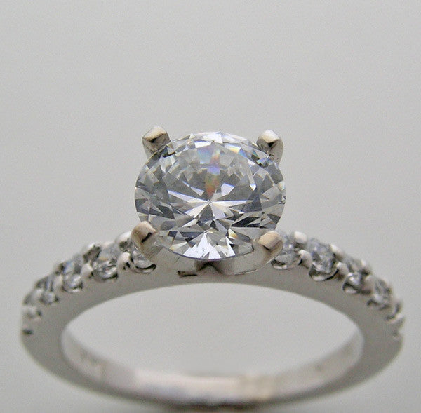 Engagement Ring Setting With Diamond Accents for All Size and Shape Diamonds