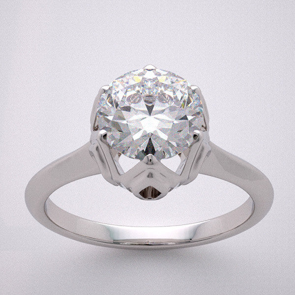 TULIP ENGAGEMENT RING SETTING FOR A 6.50 MM ROUND DIAMOND