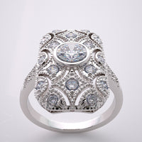 Elegant Antique Art Deco Style Diamond Ring Setting