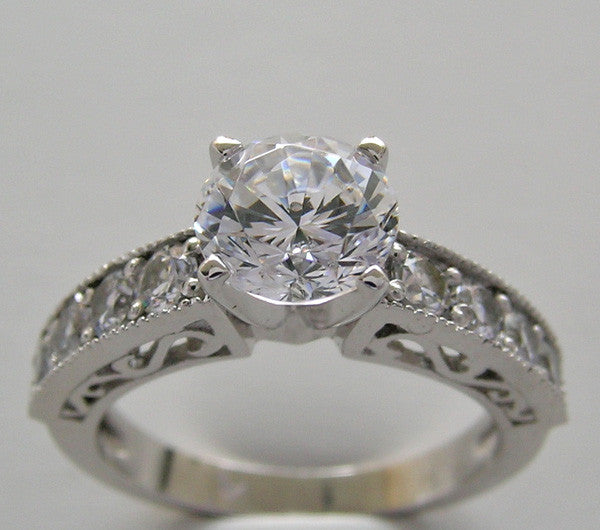 Classic Diamond Ring Setting for All Size and Shape Diamonds