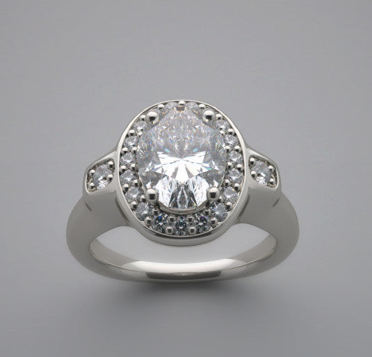 Diamond Ring Setting for a Oval Shape 8.00 x 6.00 mm Center