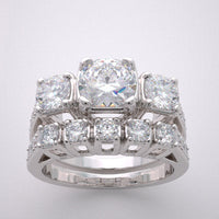 Engagement Bridal Ring Setting Set for a 6.5mm