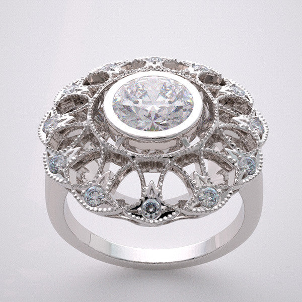 Gold Lacey Diamond Ring Setting