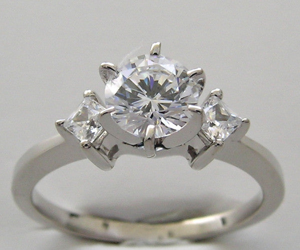 Princess Diamond Ring Setting for All Size and Shape Center Diamond