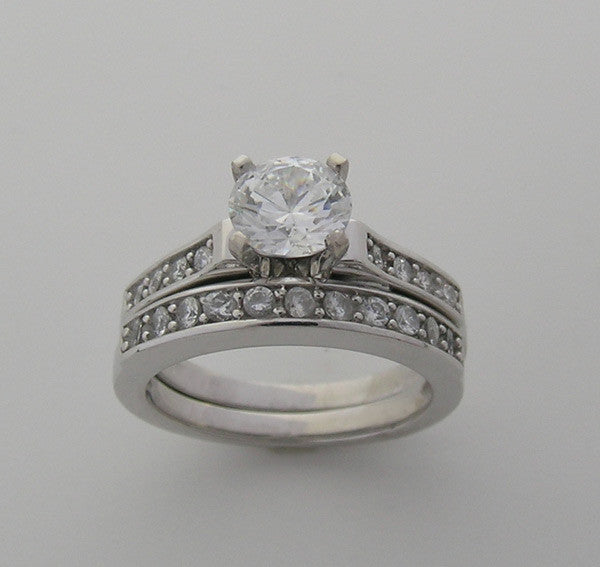 Diamond Bridal Engagement ring setting set
