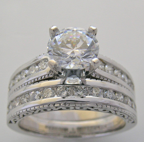 CLASSIC DIAMOND ENGAGEMENT RING SETTING SET FOR ALL SIZE AND SHAPE DAIMONDS