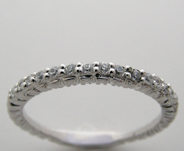 Feminine Diamond Wedding Ring