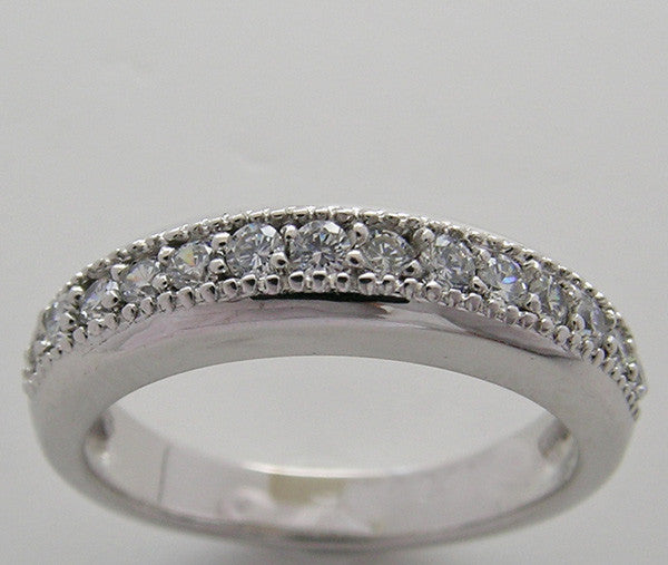 Diamond Wedding Ring with Mil Grain