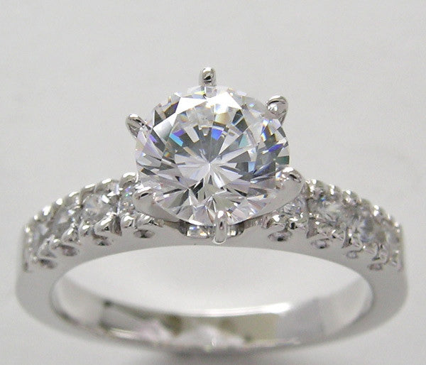 Engagement Ring Setting with Diamond Vintage Fishtail
