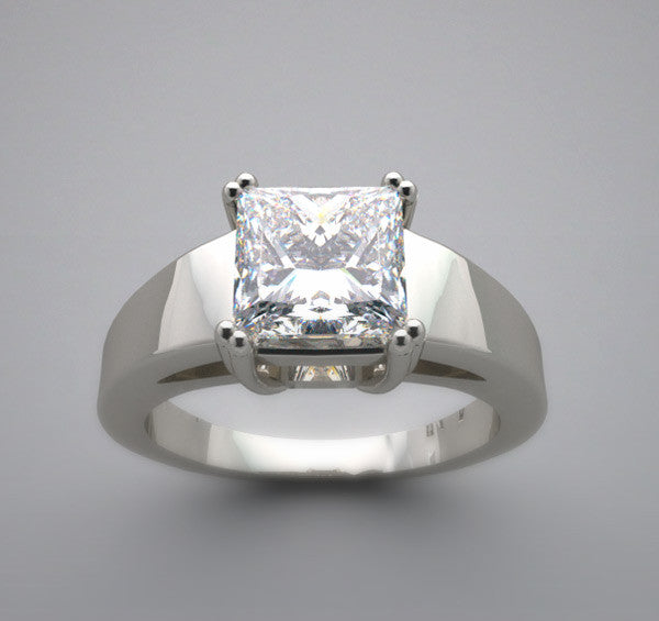 CONTEMPORARY PRINCESS SHAPE 6.00 6.00 MM DIAMOND RING SETTING