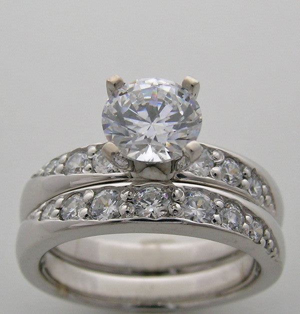 Diamond Engagement ring setting set for All Size Shape Gemstones