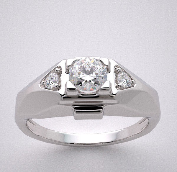 At Deco Style Ring Setting for 0.25 Carat Round Diamond