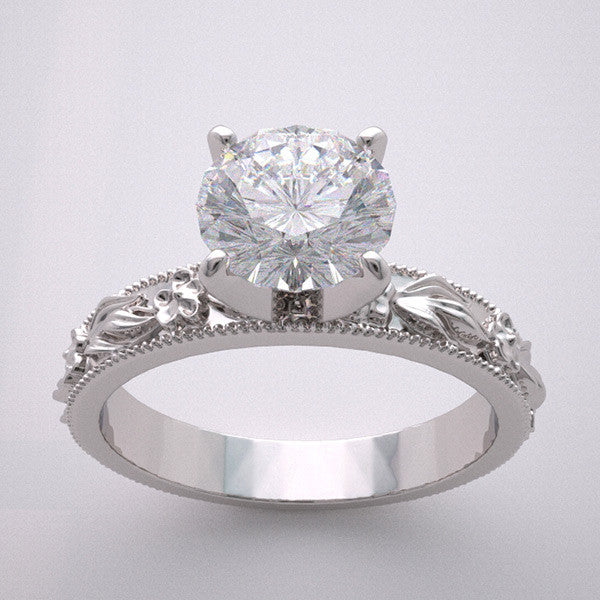 Floral Design Engagement ring setting