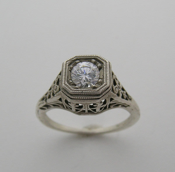 14K Art Deco Style Ring Setting