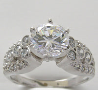 Antique Style Diamond Engagement ring mounting for all Size and Shape Center Diamond