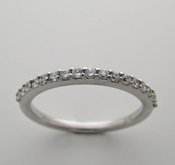 Feminine Eternity Anniversary Diamond Wedding Ring