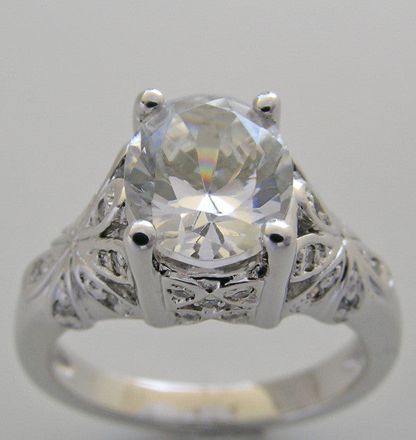 Ova Shape 8.00 x 7.00 mm Diamond Ring Setting or Re-Mount