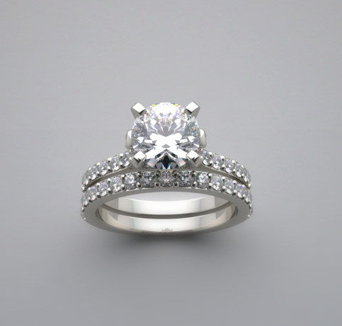 BEAUTIFUL DIAMOND ACCENT ENGAGEMENT RING SETTING
