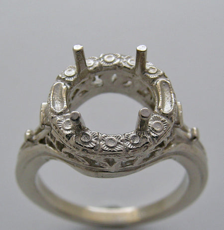 Art Deco Style Ring Setting 7.5 MM