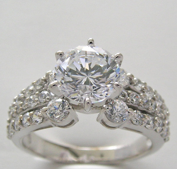 Engagement Ring setting diamond accents for all size and shape center stones
