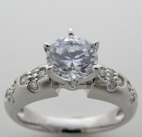 Floral Design Diamond Ring Setting for All Size and Shape Gemstones
