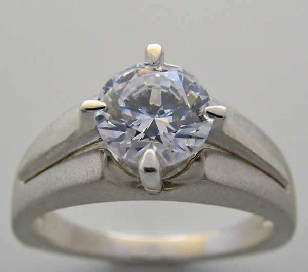 RING SETTING FOR A 6.5 MM ROUND SHAPE DIAMOND