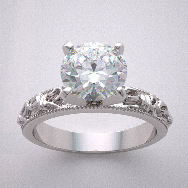 Bow Knot Design Engagement Ring Setting Set