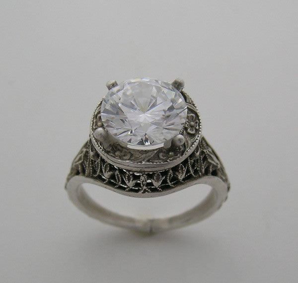 14K Antique Art Deco Style Ring Setting