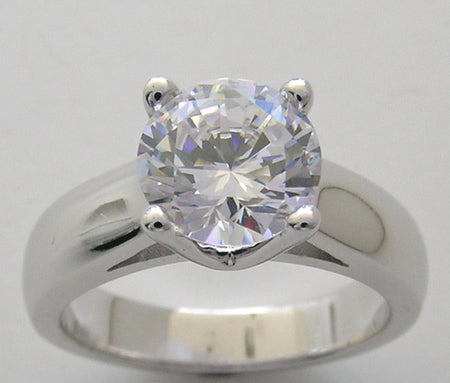 Engagement Ring Setting four prong for 7.00 mm diamond