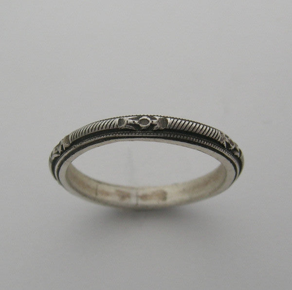 Antique Vintage Style Wedding Ring