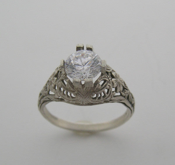 Filigree ring setting old world old world style
