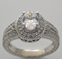 OVAL SHAPE 7.00 X 5.00 MM ENGAGEMENT RING SETTING