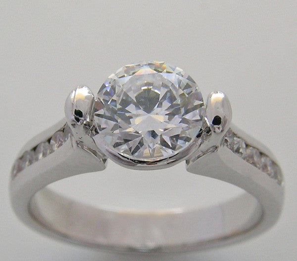 Modern Design Diamond Ring Setting for a 6.50 mm diamond or a 1.00 Carat round Diamond