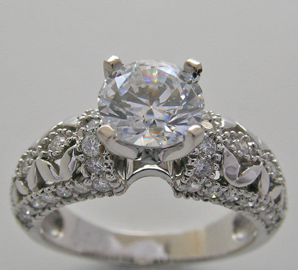 Diamond Ring Setting for a 6.50 mm Center Diamond
