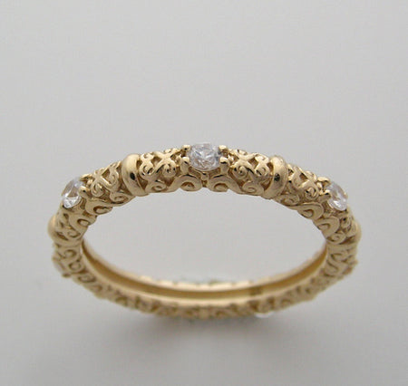 YELLOW GOLD DIAMOND RING BAND