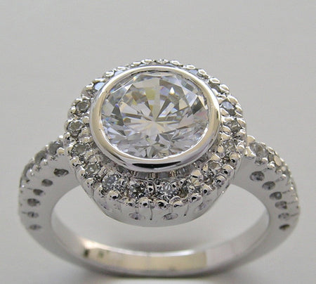 Engagement Ring Setting fo a 7.00 mm diamond size 1.25 Carat