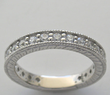 Gold Diamond Eternity Wedding Band