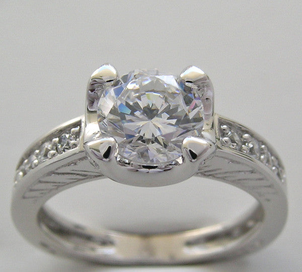 Classic Diamond Engagement Ring Setting for a 6.50 mm round diamond