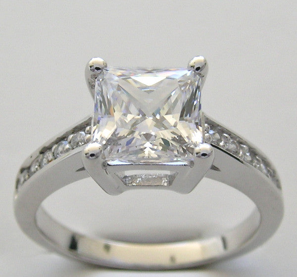 Diamond Ring Setting for a 7.00 x 7.00 mm Princess Shape