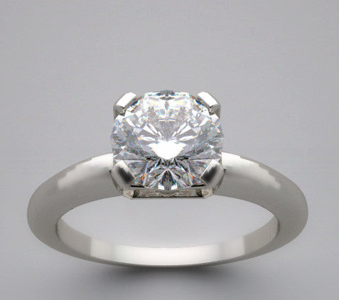 Classic 4 Prongs Solitaire Ring Setting For a 1.00 Carat Round Diamond