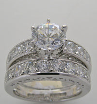 Diamod Engagement Ring Setting Set
