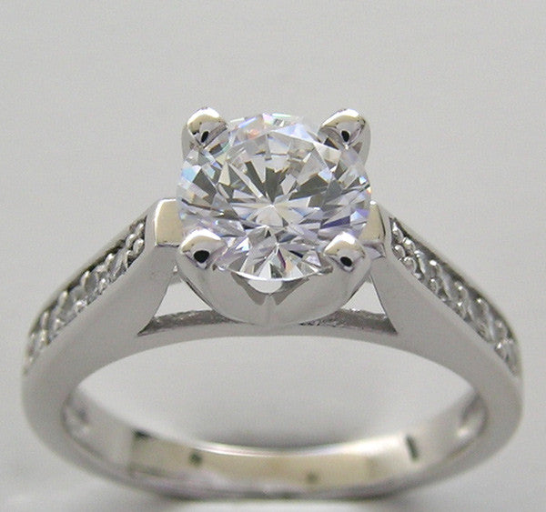 Classic Diamond Ring Setting for a 6.5 mm
