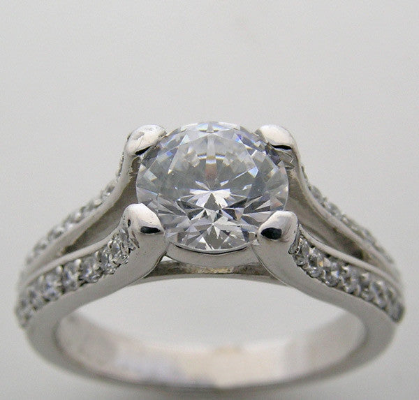 Diamond Engagement Ring Setting or for a Re-mount setting for a 6.50mm Center Diamond