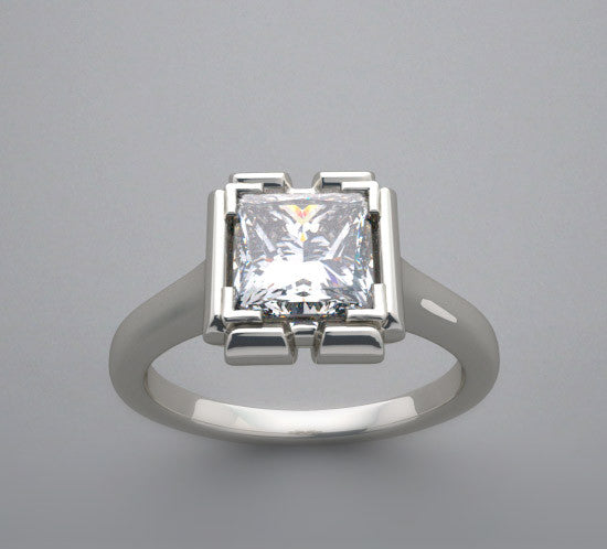 Ring Setting for Square Princess 6.00 x 6.00 mm