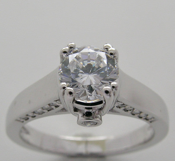 Engagement Diamond Ring Setting for a 6.00 mm round diamond