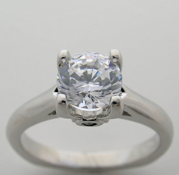 SOLITAIRE SURPRISE DIAMOND ENGAGEMENT RING SETTING MOUNTING